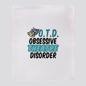 Funny Theatre Throw Blanket