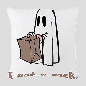 I Got A Rock Brown Woven Throw Pillow