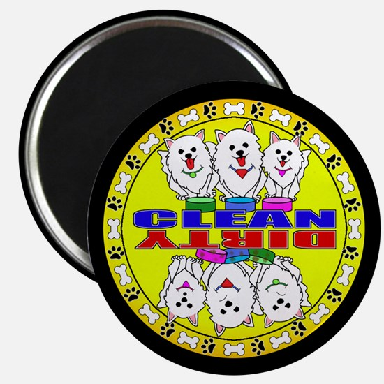 American Eskimo Dog Clean And Dirty Magnet Magnets
