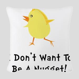 Chicken Nugget Woven Throw Pillow