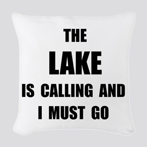 Lake Calling Woven Throw Pillow