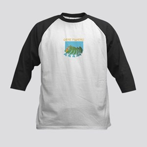 Gone Fishing! Kids Baseball Jersey