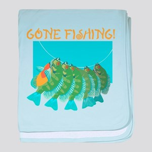 Gone Fishing! baby blanket