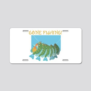 Gone Fishing! Aluminum License Plate