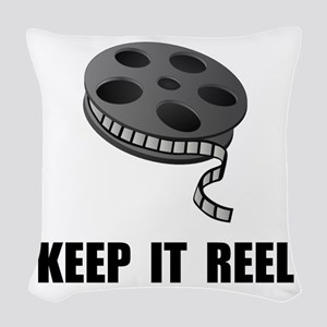 Keep Movie Reel Woven Throw Pillow