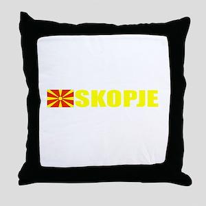 Skopje, Macedonia Throw Pillow