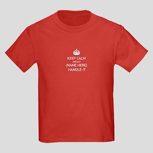 Keep Calm Handle It Kids Dark T-Shirt