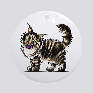 Maine Coon Giant Ornament (Round)