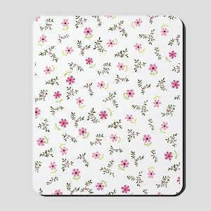 Pink Daisy Print Mousepad