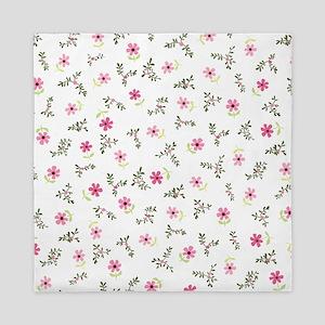 Pink Daisy Print Queen Duvet