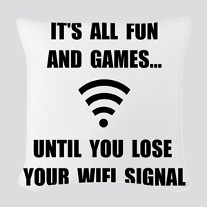 Lose Your WiFi Woven Throw Pillow