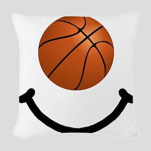 FBC Basketball Smile Black Woven Throw Pillow