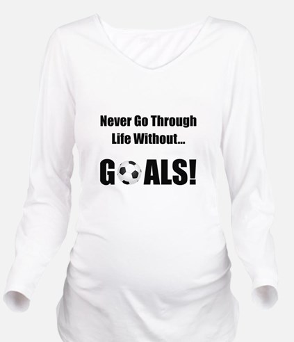 Soccer Goals Black (2).png Long Sleeve Maternity T