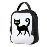Cat With Green Eyes Neoprene Lunch Bag