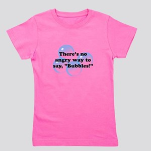 Angry Bubbles Black Girl's Tee