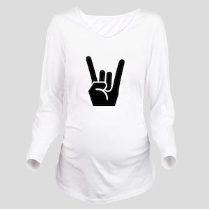 Rock Fingers Black FBC Long Sleeve Maternity T