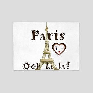 Paris Ooh la la 5'x7'Area Rug