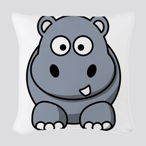 Hippo ONLY Woven Throw Pillow