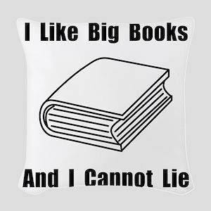 Big Books Black Woven Throw Pillow