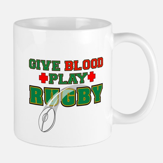 Give Blood, Play Rugby Mug