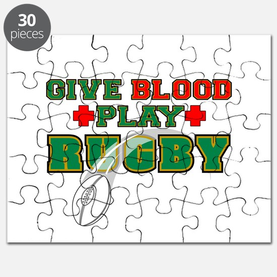 Give Blood, Play Rugby Puzzle