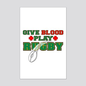 Give Blood, Play Rugby Mini Poster Print