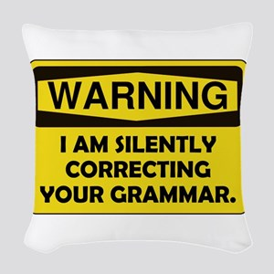 Grammar Correcting Yellow Only Woven Throw Pil