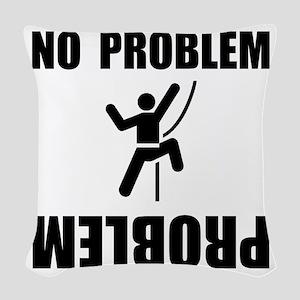 Climbing Problem Black Woven Throw Pillow
