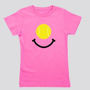 Tennis Smile Black Girl's Tee