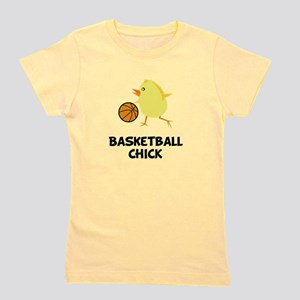 Basketball Chick Black Girl's Tee