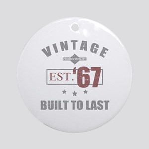 Vintage 1967 Birth Year Round Ornament