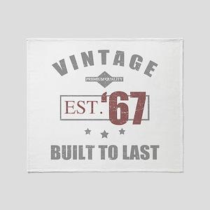 Vintage 1967 Birth Year Throw Blanket
