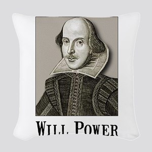 Will Power Black Woven Throw Pillow