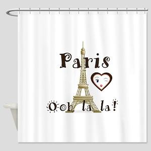 Paris Ooh la la Shower Curtain