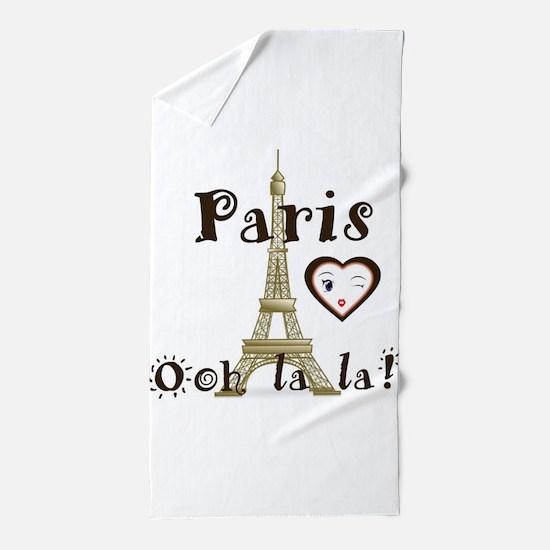 Paris Ooh la la Beach Towel