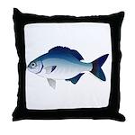 Blue Sea Chub Throw Pillow