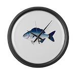 Blue Sea Chub Large Wall Clock