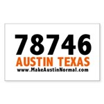 78746 Auto Rectangle Sticker