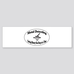 Metal Detecting Bumper Sticker