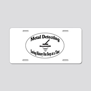 Metal Detecting Aluminum License Plate