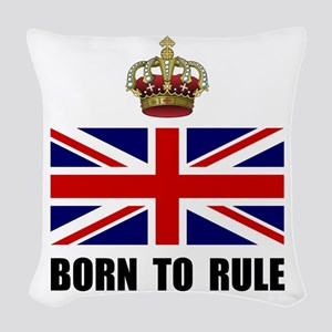 Royal Crown Rule Woven Throw Pillow