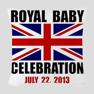 Royal Baby Celebration Woven Throw Pillow