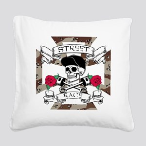 STREET RACER Square Canvas Pillow