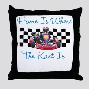 Home is Where the Kart Is Throw Pillow