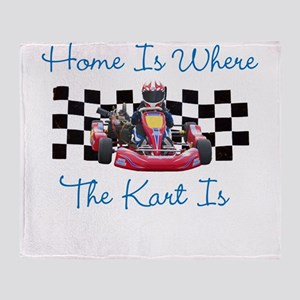 Home is Where the Kart Is Throw Blanket