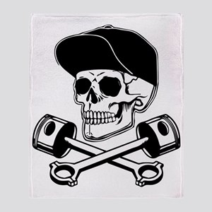SKULL & PISTONS Throw Blanket