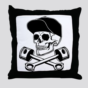SKULL & PISTONS Throw Pillow