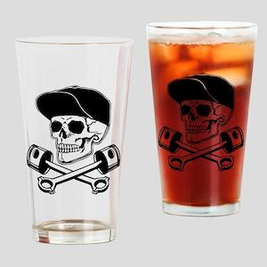 SKULL & PISTONS Drinking Glass