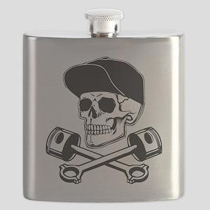 SKULL & PISTONS Flask