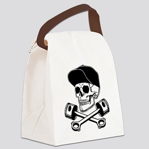 SKULL & PISTONS Canvas Lunch Bag